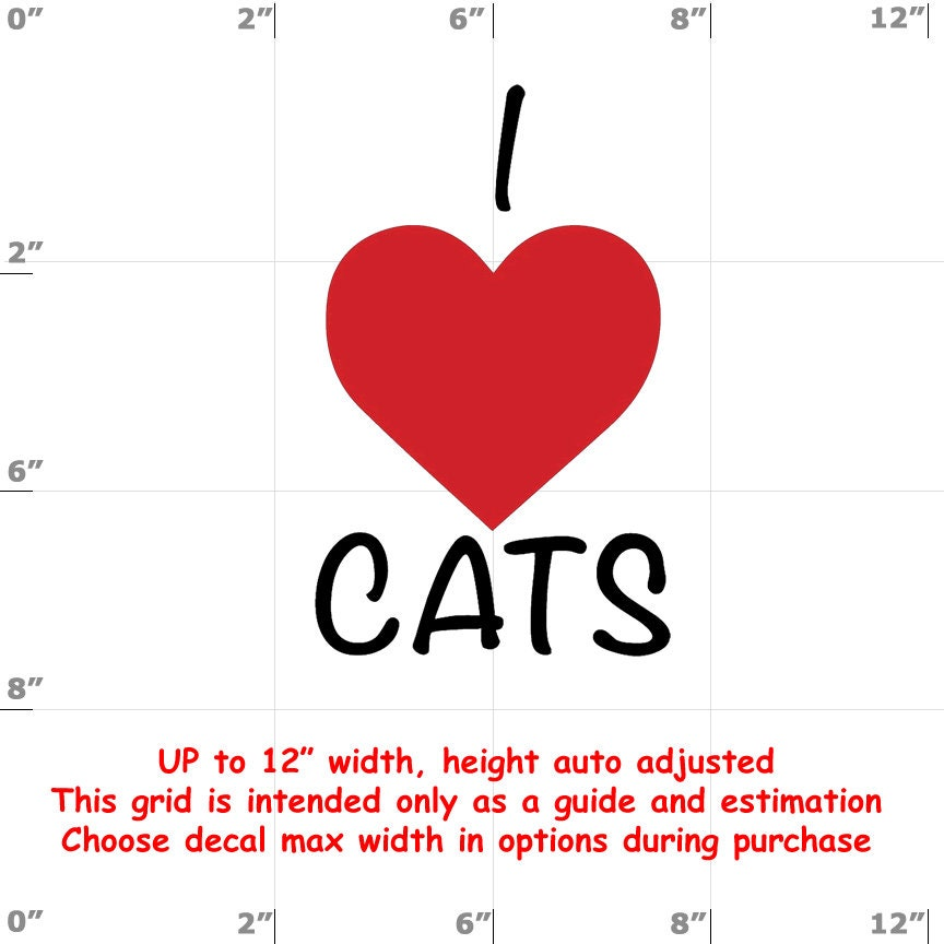 CAD$6.99 - i love cats Vinyl  Funny Cat Decal