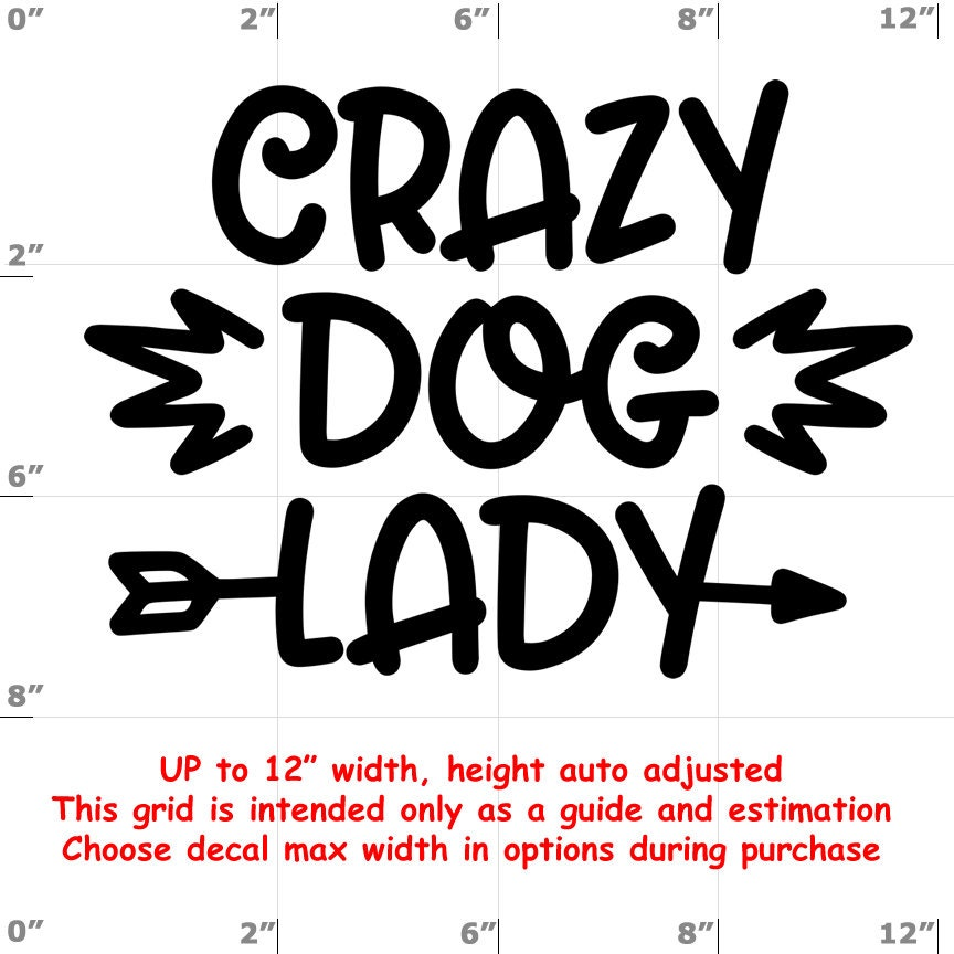 crazy dog lady Dog vinyl decal - Dog Decal