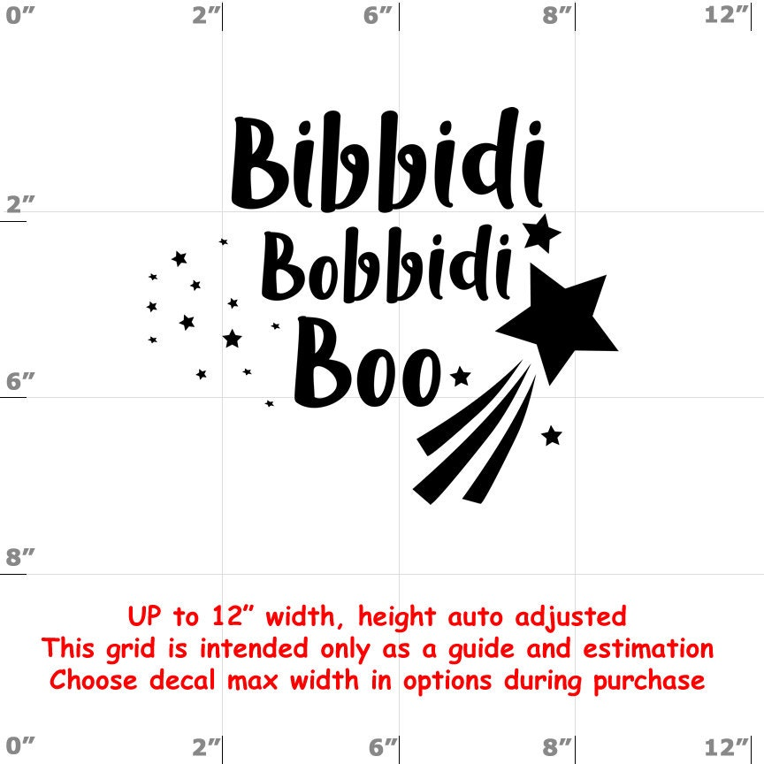 CAD$6.99 - Bibbidi Bobbidi Boo - Fun Decals various sizes and colors - colours