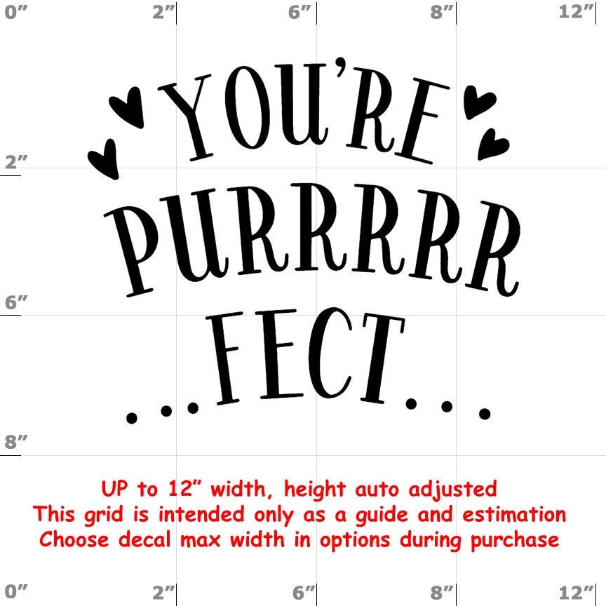 CAD$8.69 - your purrrfect purfect Vinyl  Funny Cat Decal