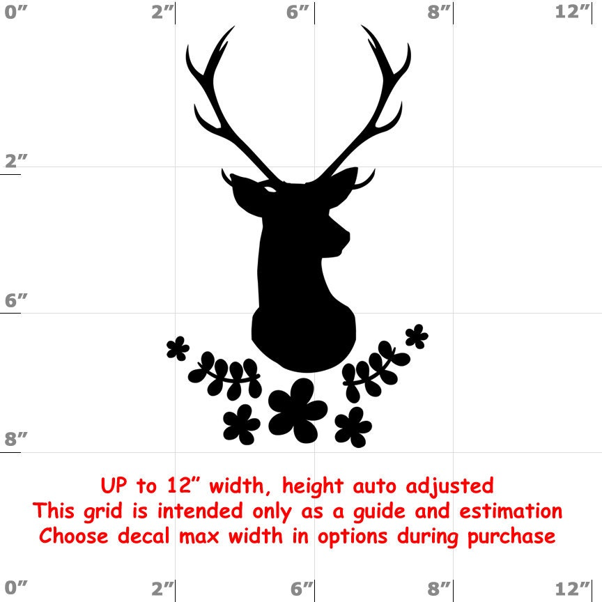Antlers - Fun Decals various sizes and colors - colours