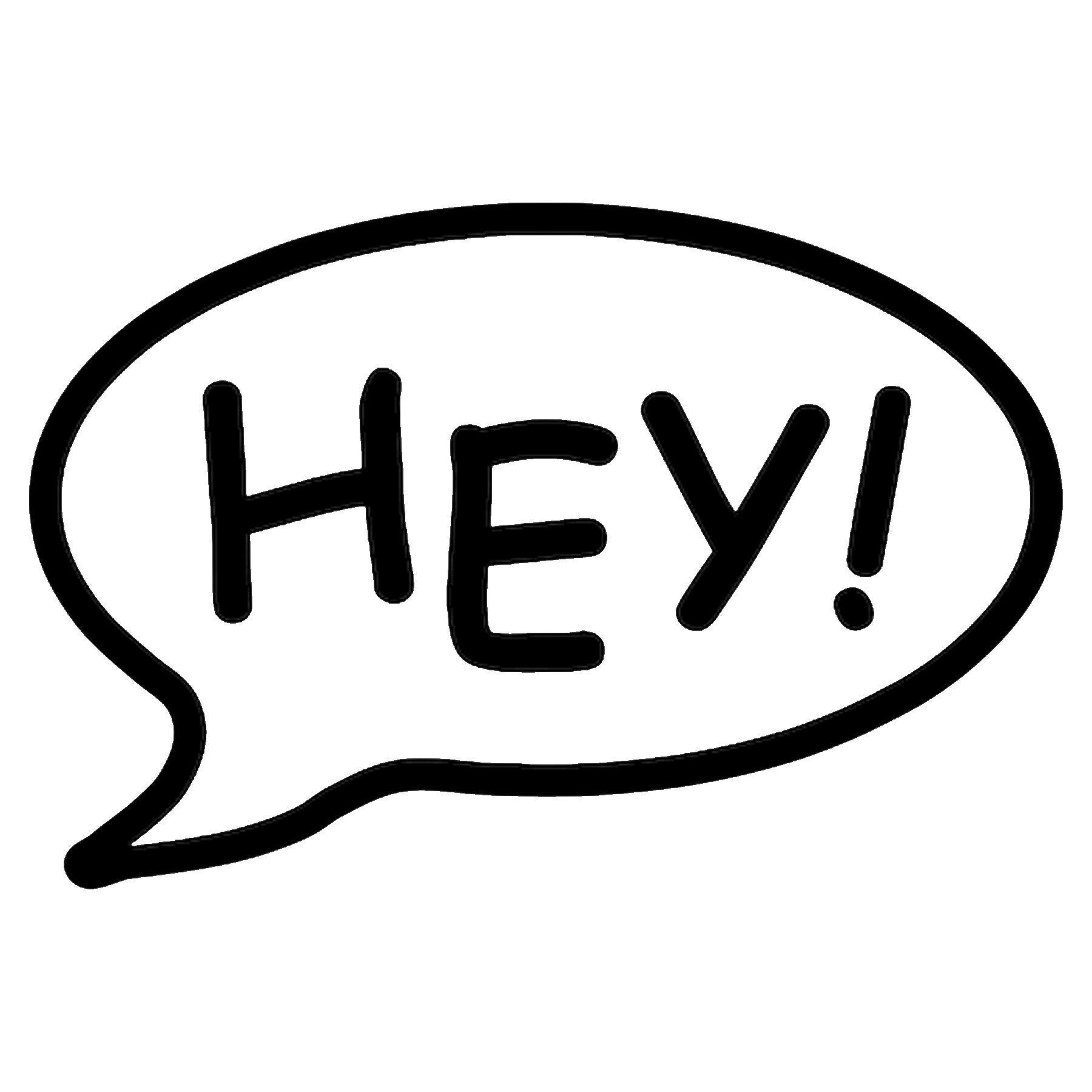 CAD$8.69 - Hey Call out Vinyl Decal - various sizes and colors - colours