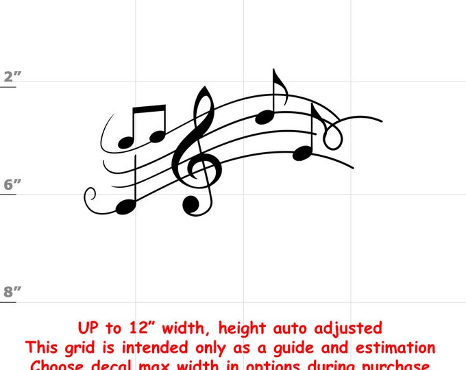 Music Notes - Fun Decals various sizes and colors - colours