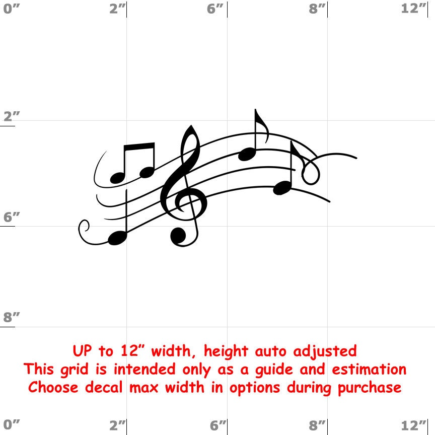 CAD$8.69 - Music Notes - Fun Decals various sizes and colors - colours