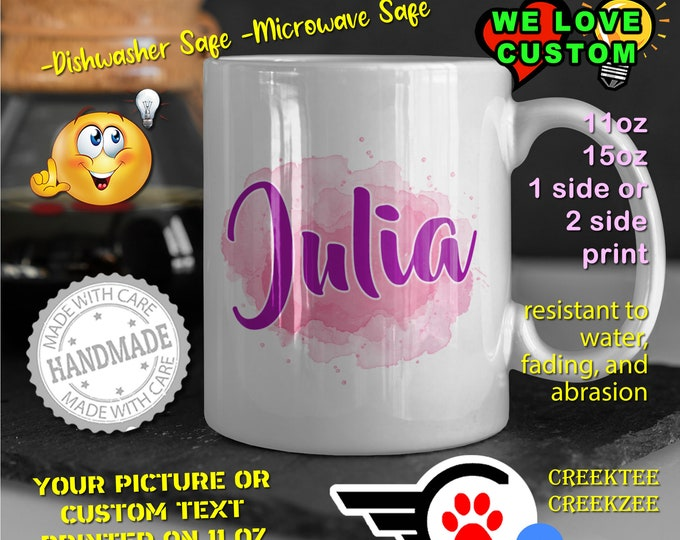 Personalized Name Mug, Custom Funny Mug Custom Name 11oz Coffee Mug, choose your color or font