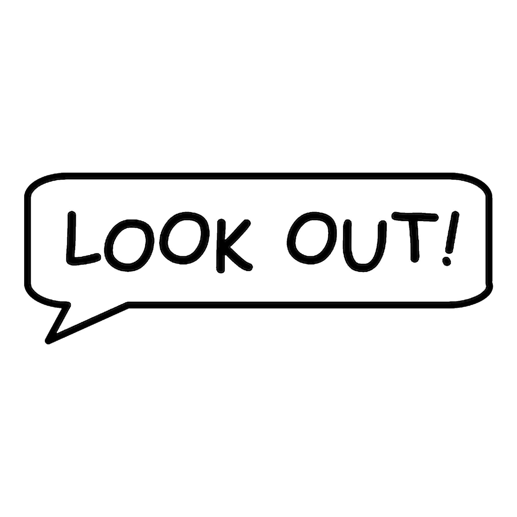 CAD$6.99 - Look Out! Call out Vinyl Decal - various sizes and colors - colours