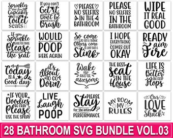 Bathroom Sayings Etsy