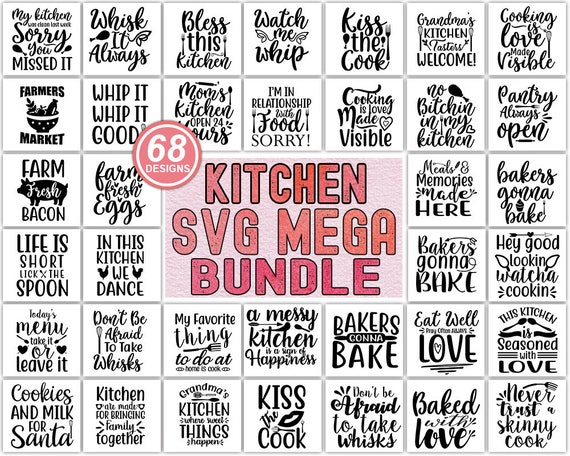 Kitchen Svg Bundle Kitchen Towel Svg Funny Kitchen Quote Etsy
