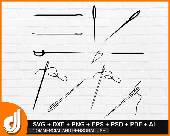 Sewing needle SVG Sewing items,Cricut Cut File seamstress svg Thread svg Needle and thread SVG Sewing SVG Pin svg needle pad clipart