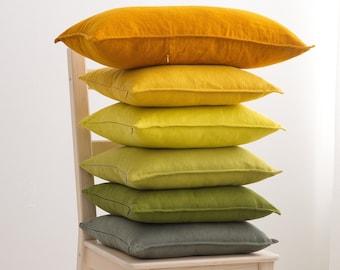 Linen Decorative Pillow Case, Linen Cushion Cover with Zipper, Custom Color Linen Pillow Case, Natural Linen Pillow Cover