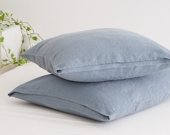 Deep Mustard Linen Pillow Case made of