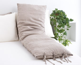 Natural Linen Body Pillow Cover 20x54