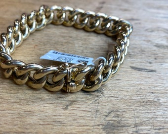 Yellow gold armored bracelet solid 14kt. 585/000 19,5 cm 27,0g Gold, Art. Ref. AB-585-2