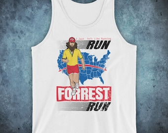 be82372f6ba Forrest Gump Run Forrest Run Iconic Tom Hanks Drama Film I Just Felt Like  Running Unofficial Unisex Tank Top Vest