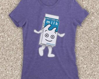 ab71866ee Blur Coffee And TV Milk Carton British Britpop Rock Band Unofficial Womens T -Shirt