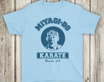 67dd9e999 Karate Kid Mr Miyagi Classic Martial Arts Film Wax On Wax Off Dojo  Unofficial Kids T-Shirt
