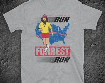 71b6c659872 Forrest Gump Run Forrest Run Iconic Tom Hanks Drama Film I Just Felt Like  Running Unofficial Mens T-Shirt