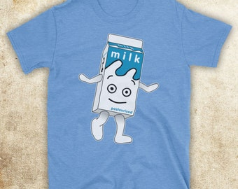 4390aa03b Blur Coffee And TV Milk Carton British Britpop Rock Band Unofficial Mens T- Shirt