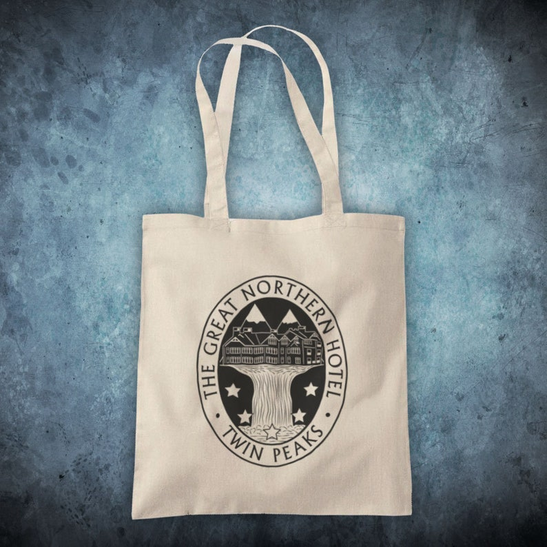 f0496c8e142 Twin Peaks The Great Northern Hotel Cult David Lynch Drama TV Show  Unofficial Cotton Tote Bag Shopper