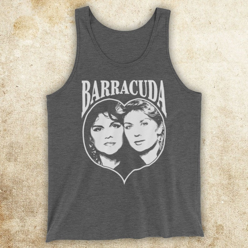 Heart Barracuda American Rock Band Ann Nancy Wilson Sisters Alone  Unofficial Unisex Tank Top Vest