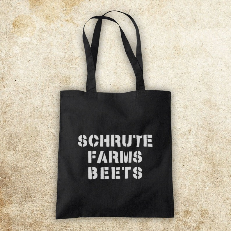 Office US Schrute Farms Beets American Comedy TV Show Remake As Worn By Dwight Unofficial Cotton Tote Bag Shopper