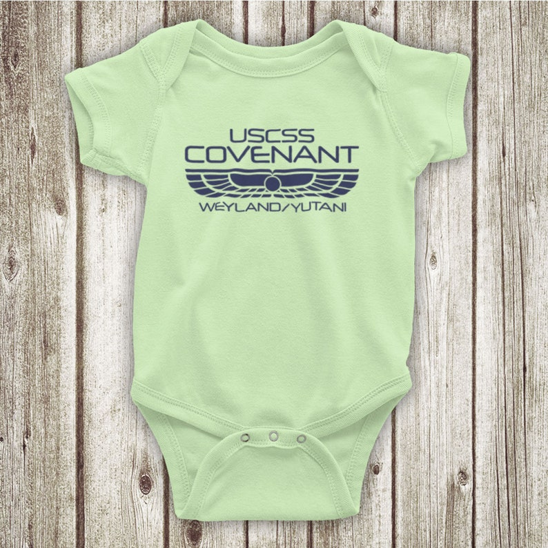 Alien Covenant USCSS Covenant Sci-Fi Film Spaceship Logo Unofficial Baby Grow