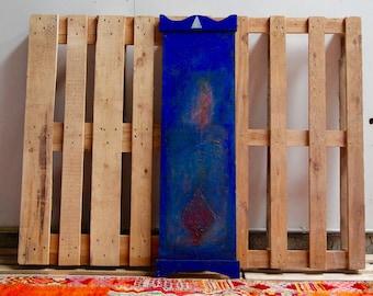 Blue Acrylic painting Seyni Gadiaga Senegal