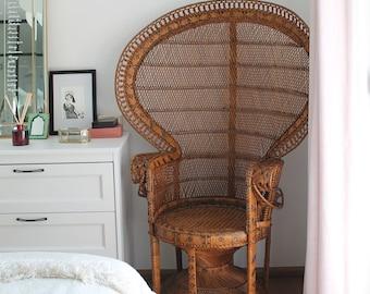FLORA Rattan Vintage Peacock Emmanuelle Chair