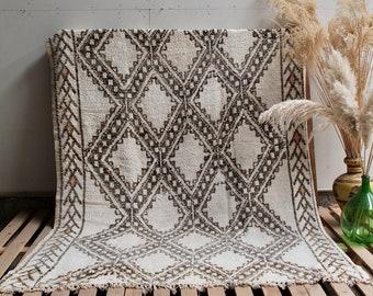 TERRE Marmoucha Moroccan Rug, Beige Moroccan Rug, Vintage Rug, Handmade Rug, Wool Rug, Vintage Moroccan Rug, Vintage Marmoucha, Beige Rug