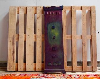 Wood Acrylic painting Seyni Gadiaga Senegal