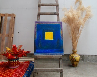 Hope's Call Acrylic painting Seyni Gadiaga Senegal