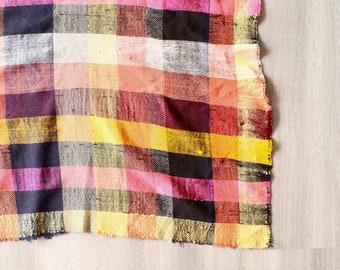 SCOTTISH Haïk Berber Blanket, Moroccan Throw, Cotton Bedspread, Moroccan Blanket, Colourful Cotton tablecloth, Striped Throw, Check Throw