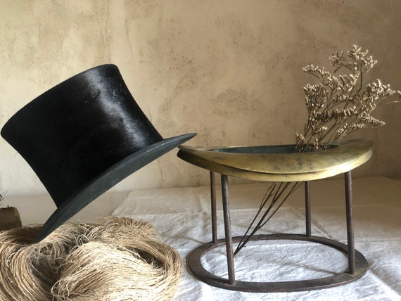 Rare French bronze TOP HAT mold form and top hat .