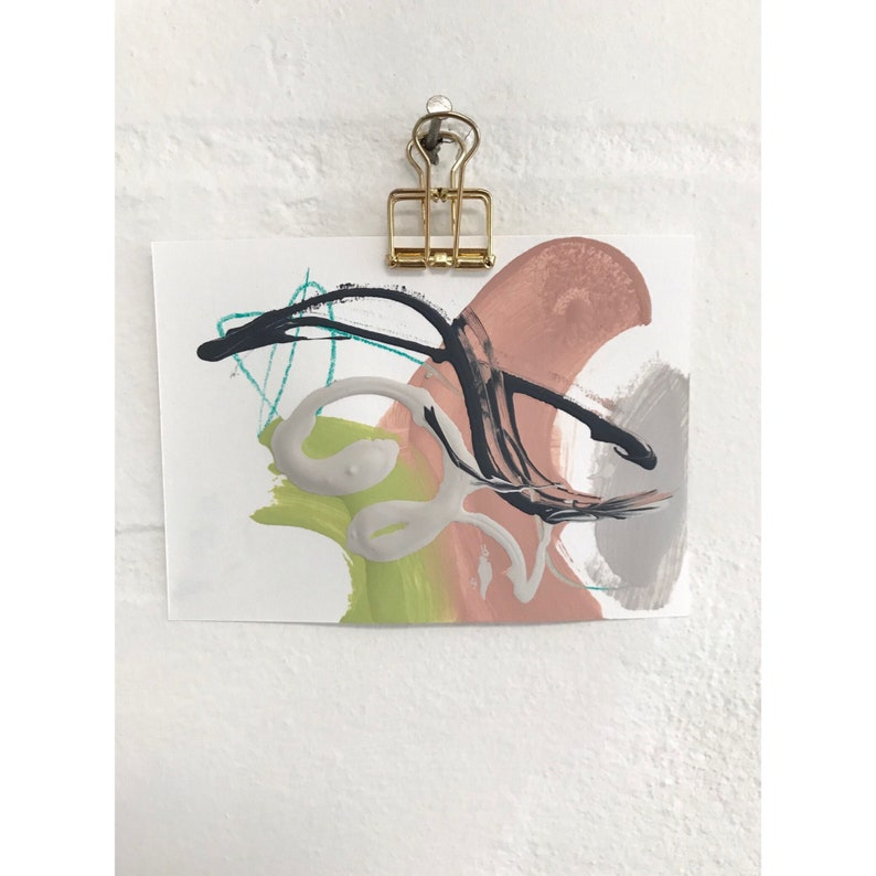 3x4Original mini abstract painting by Charlotte image 0