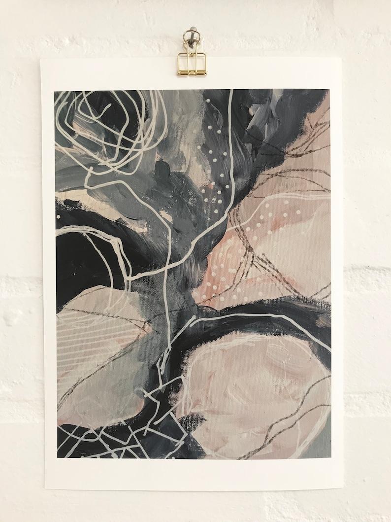 Abstract Art Print 8x10 Artwork by Charlotte Billingham image 0