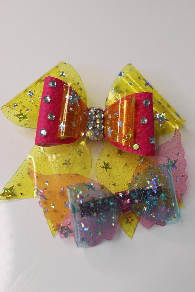 Crystalline sparkles hair bow set
