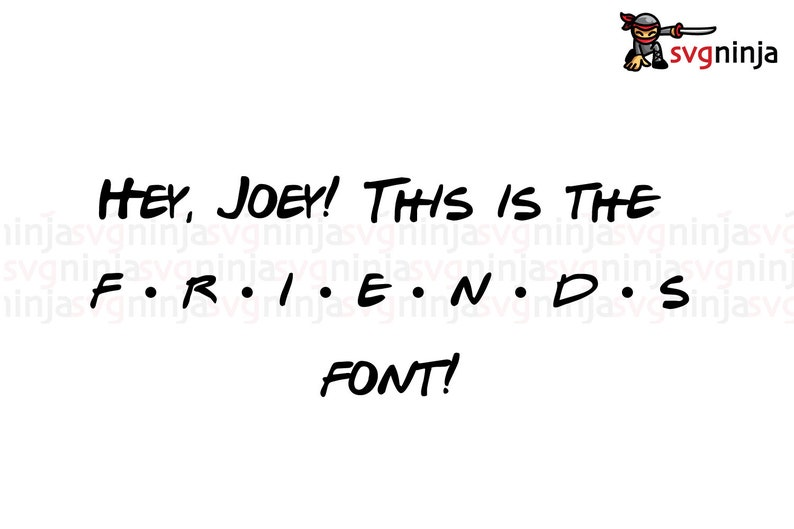 Friends Alphabet Svg File, Friends Svg File, Friends Font, Svg Files For  Cricut  Joey, Chandler, Ross, Racheal, Monica, Phoebe