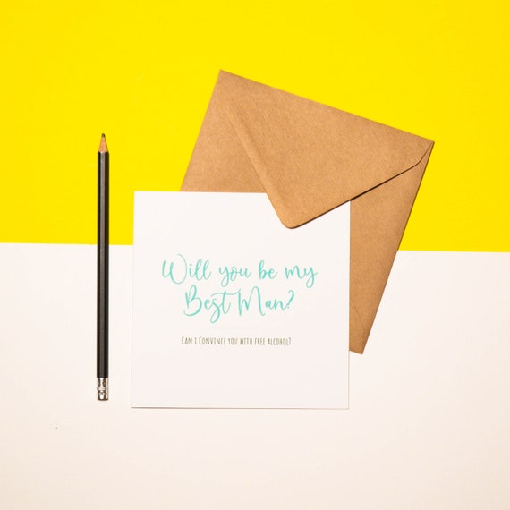 Will You Be My ... - Greetings Card | Celebrate | Cute | Gifts | Will You Be | Bridal Party | Wedding | Wedding Card | Kraft | Lazy Creative