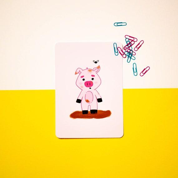 Giuseppe The Pig - Giclee Print - Art Print - Pig Gifts - Pig Lover - kawaii Print