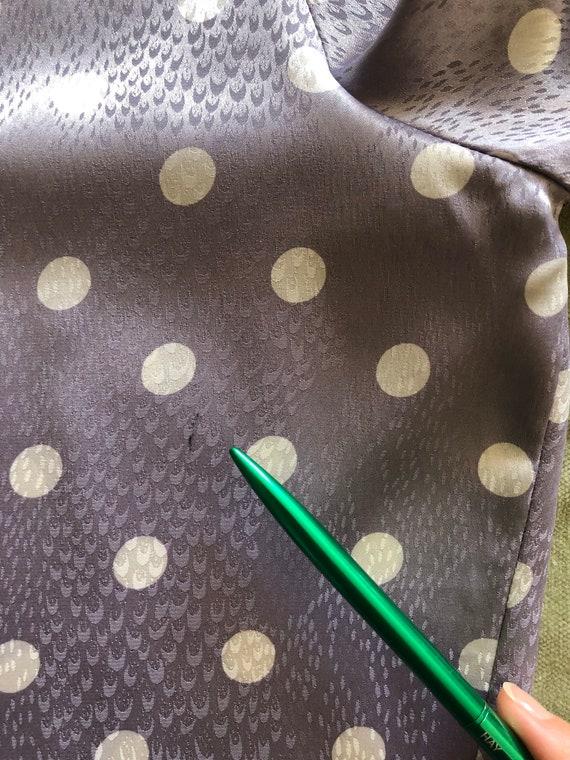 80s polka dot blouse | vintage purple blouse,big … - image 9