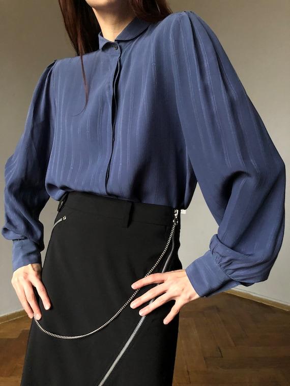70s CHRISTIAN DIOR silk blouse | Vintage silk roma