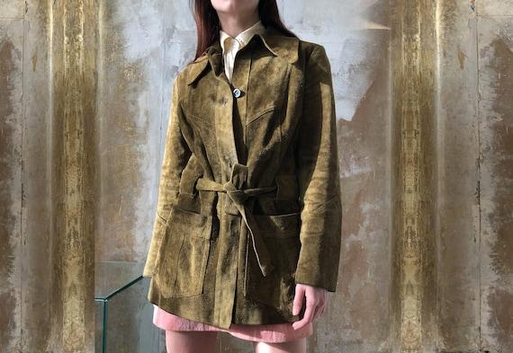 vintage suede green coat | Scandinavian Minimalist