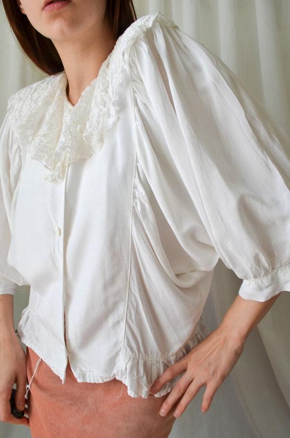vintage white lace collar blouse | Cottagecore ba… - image 3