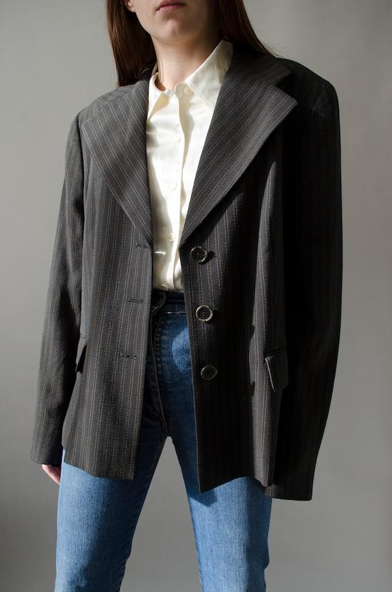 vintage MaxMara striped blazer | Minimalist single