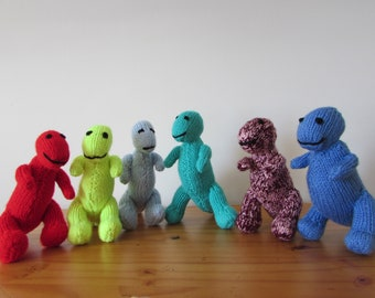 Hand Knitted T-Rex Dinosaurs