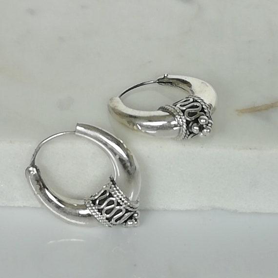 New 23mm Tibetan Silver Rose Charm Dangle Earrings UK Seller