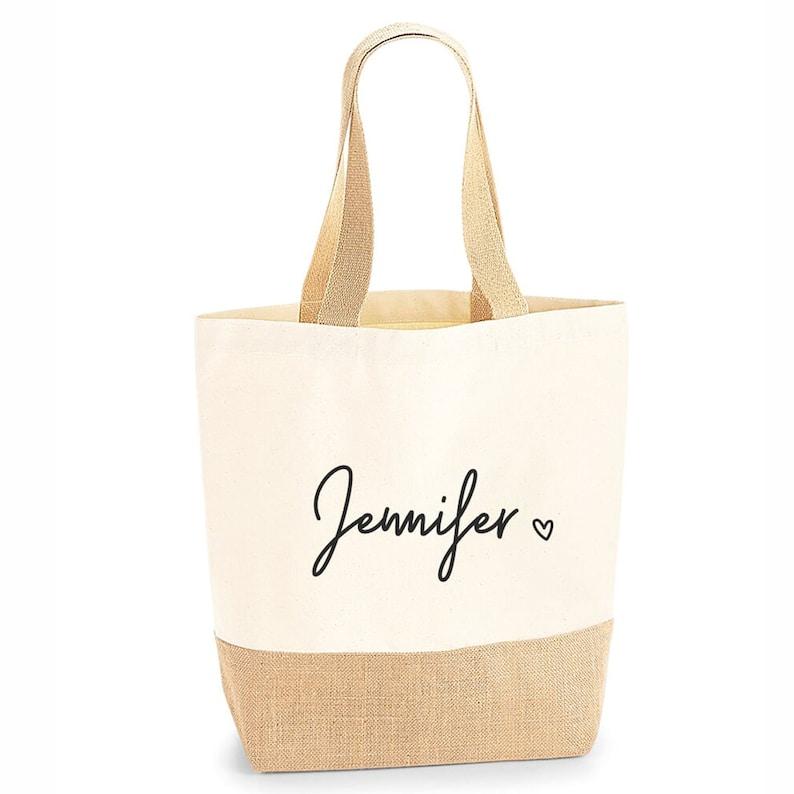 Gepersonaliseerde grote Tote Bag grote shopper tas Uni tas Black
