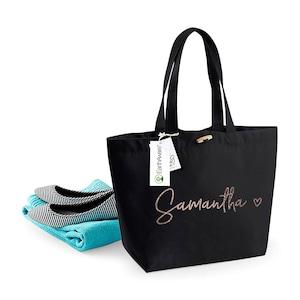 Personalised Large Tote Bag Custom Printed Bag Large Book Bag Large Shopper Bag Uni Bag Personalised Jute Shopping Bag Large Bag