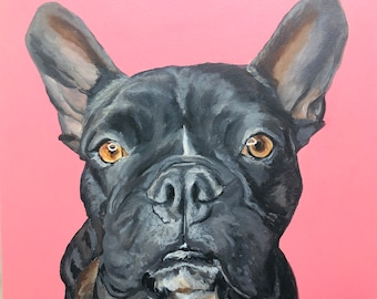 """CUSTOM Pet Portrait (12""""x12"""" wrapped canvas)"""
