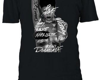 0f873ffb3f5 Robyn Rihanna Fenty Singer Barbados Album Cover Tshirt Men Women Unisex  Oversized 3XL 4XL 5XL T-Shirt 336